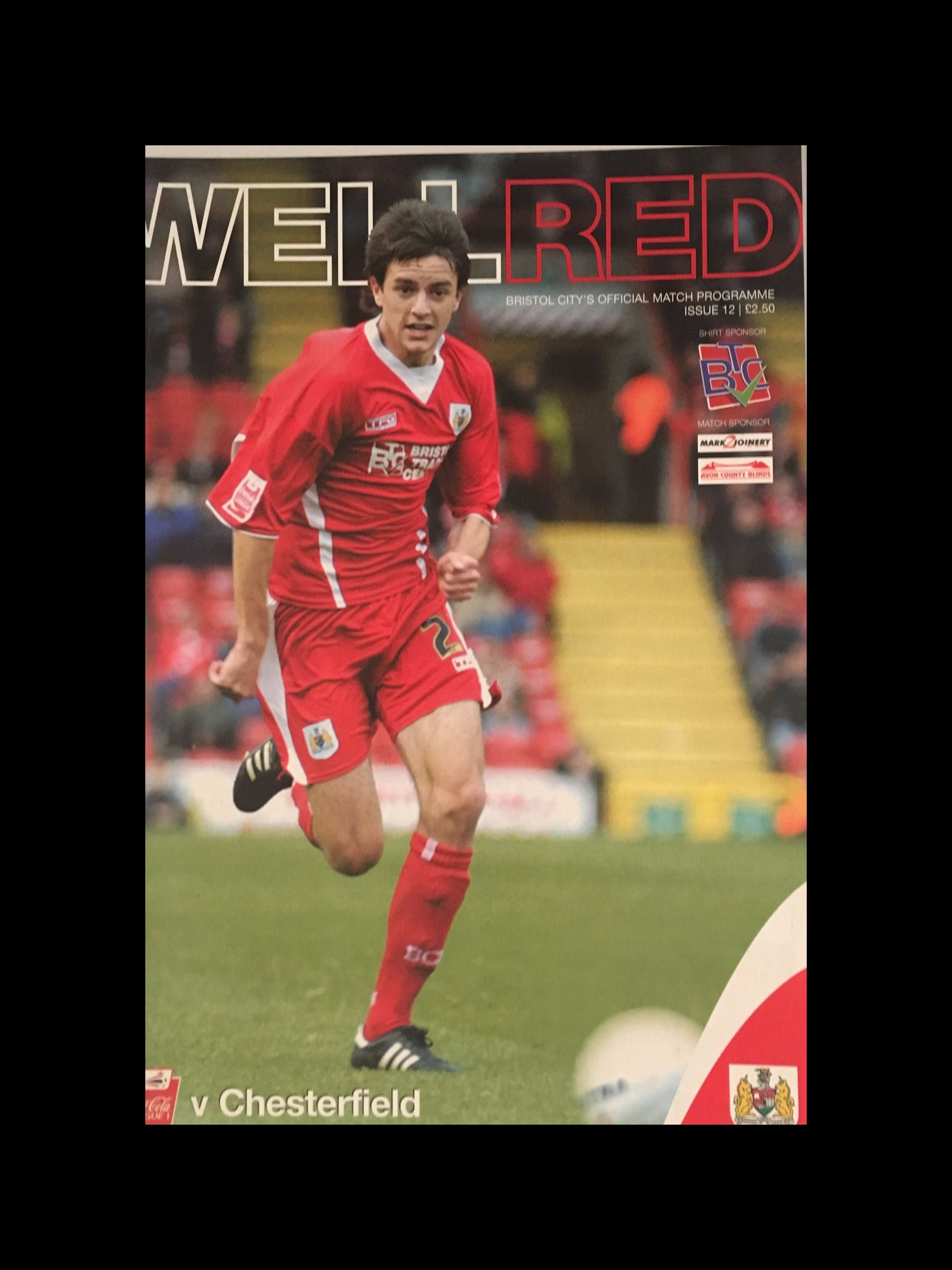 Bristol City v Chesterfield 19-11-2005 Programme