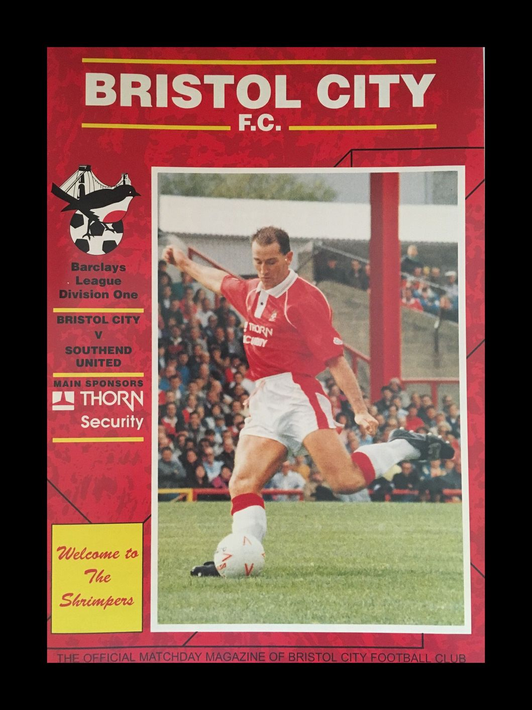 Bristol City v Southend United 12-09-1992 Programme
