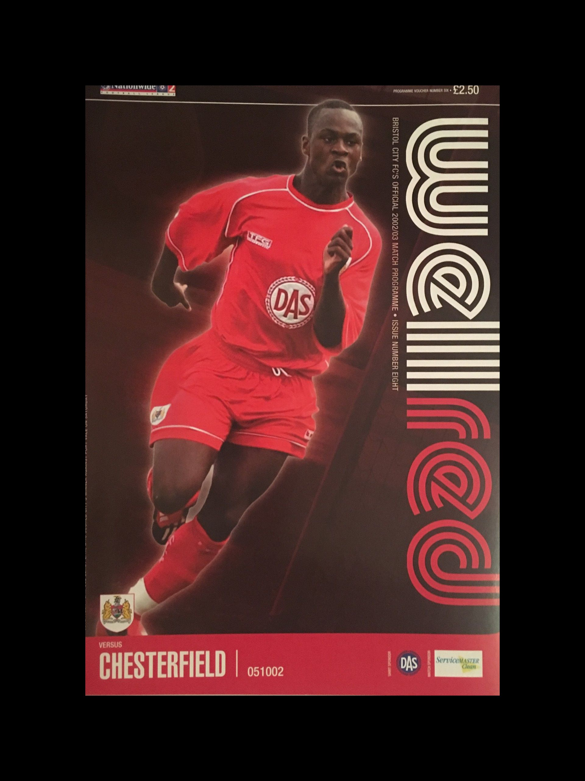 Bristol City v Chesterfield 05-10-2002 Programme