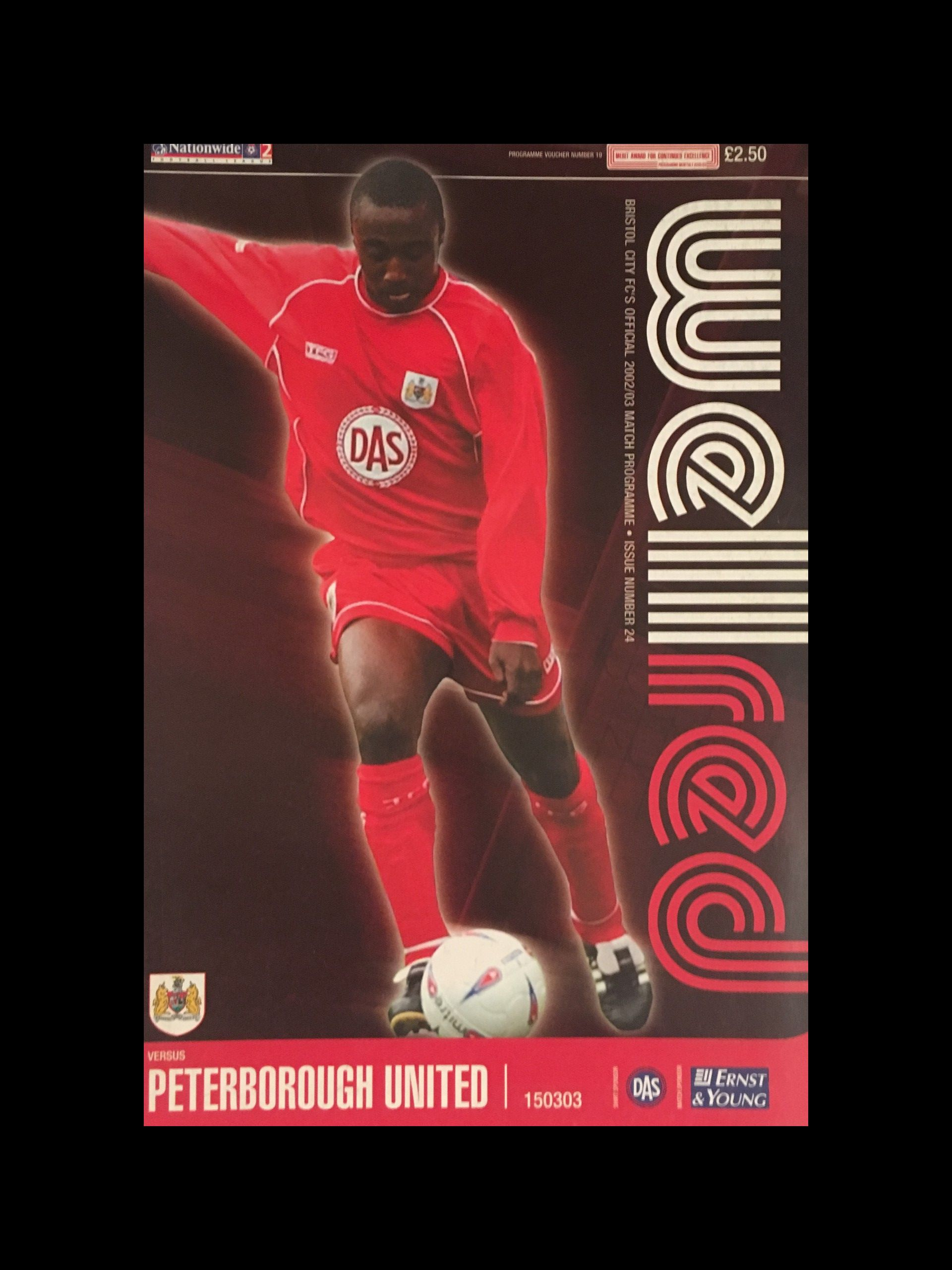 Bristol City v Peterborough United 15-03-2003 Programme