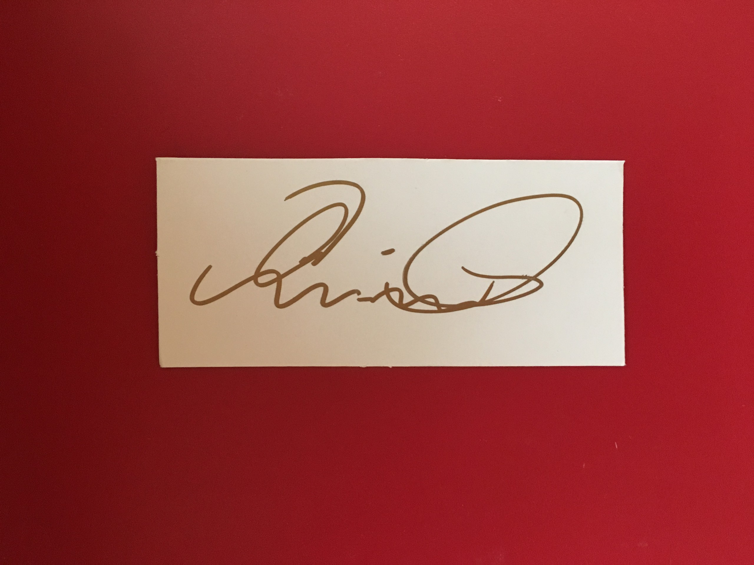 Chris Coleman / Wales Manager / Signature Card 14-01-17