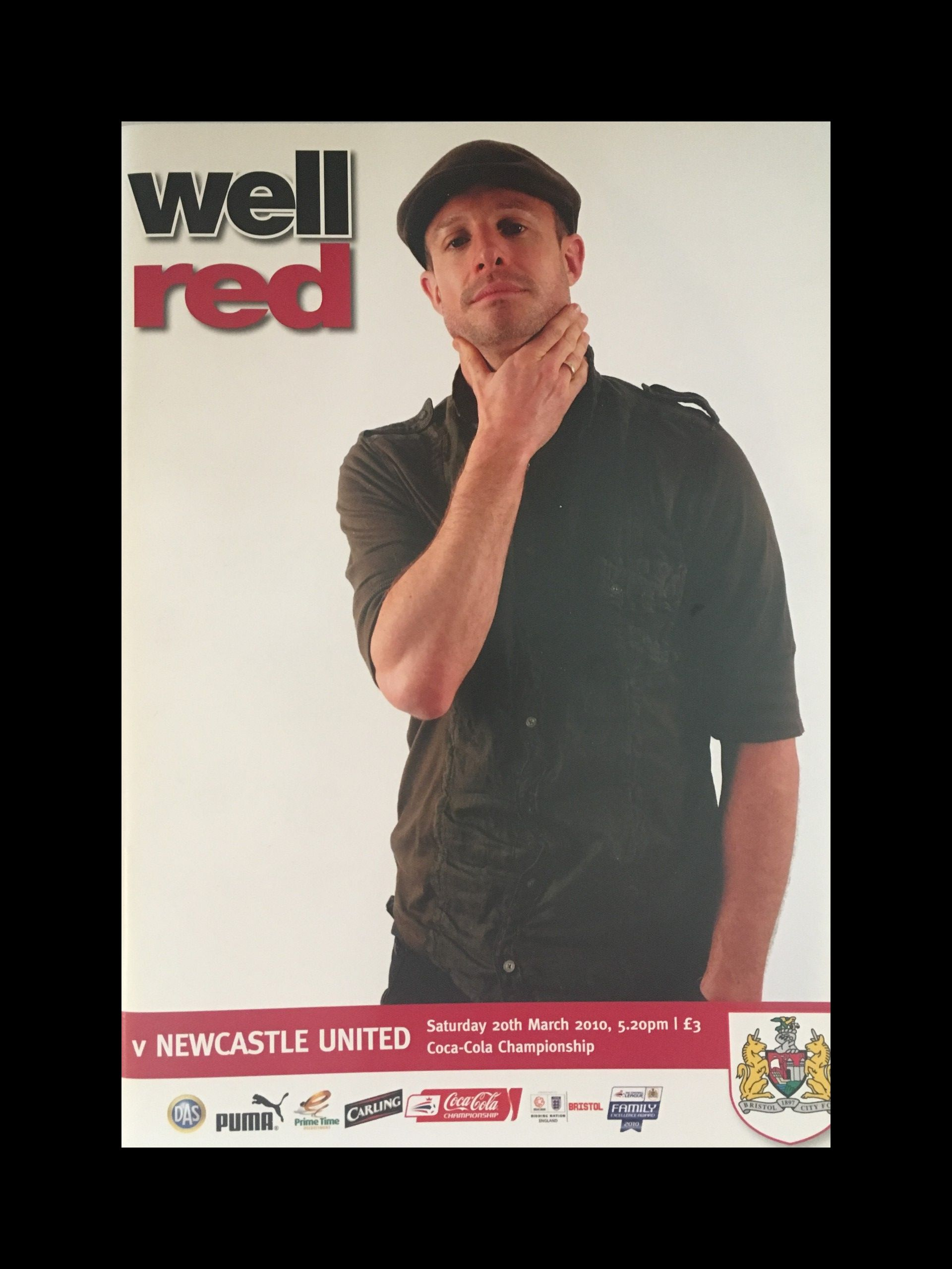 Bristol City v Newcastle United 20-03-2010 Programme