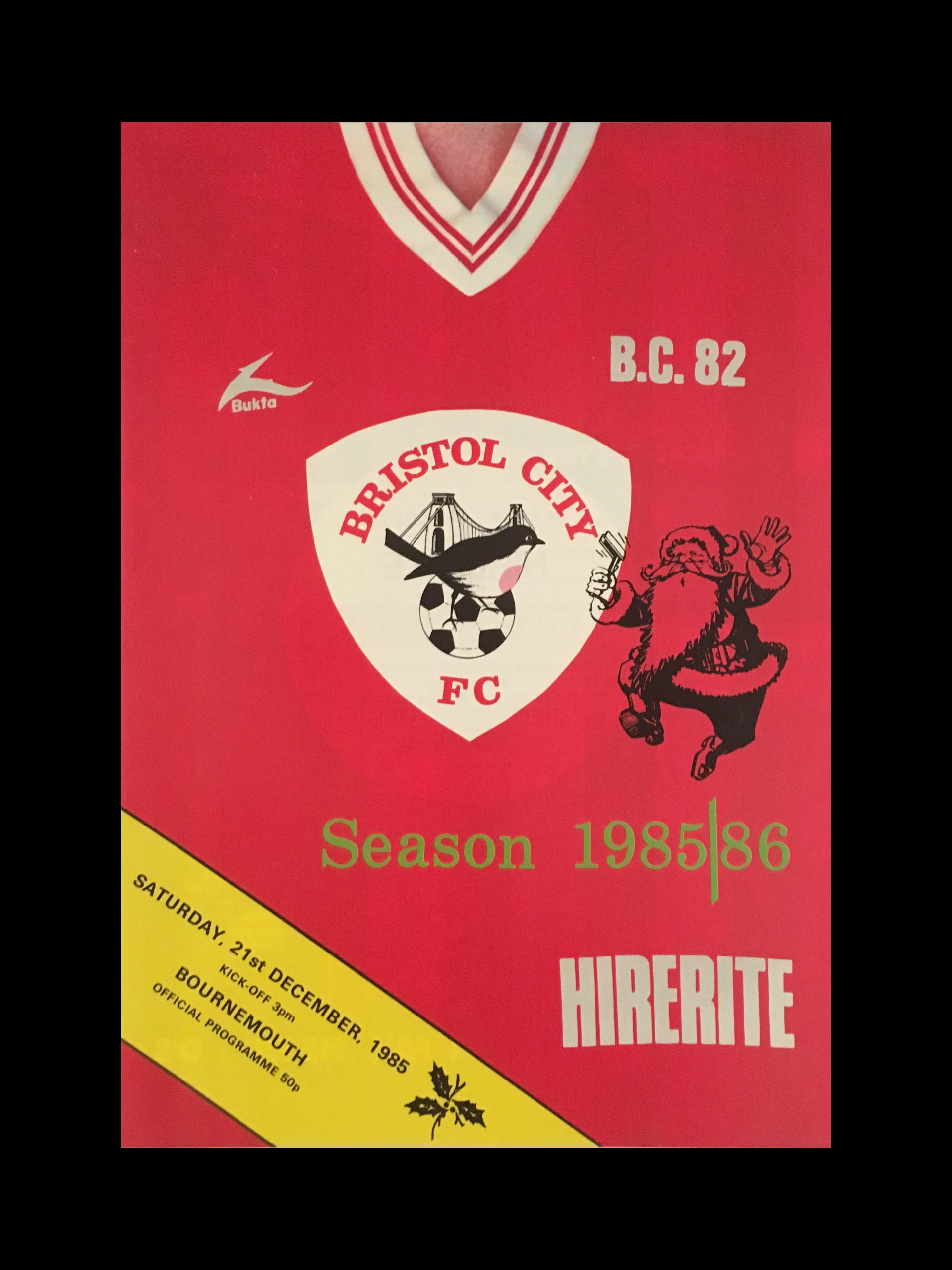 Bristol City v Bournemouth 21-12-85 Programme