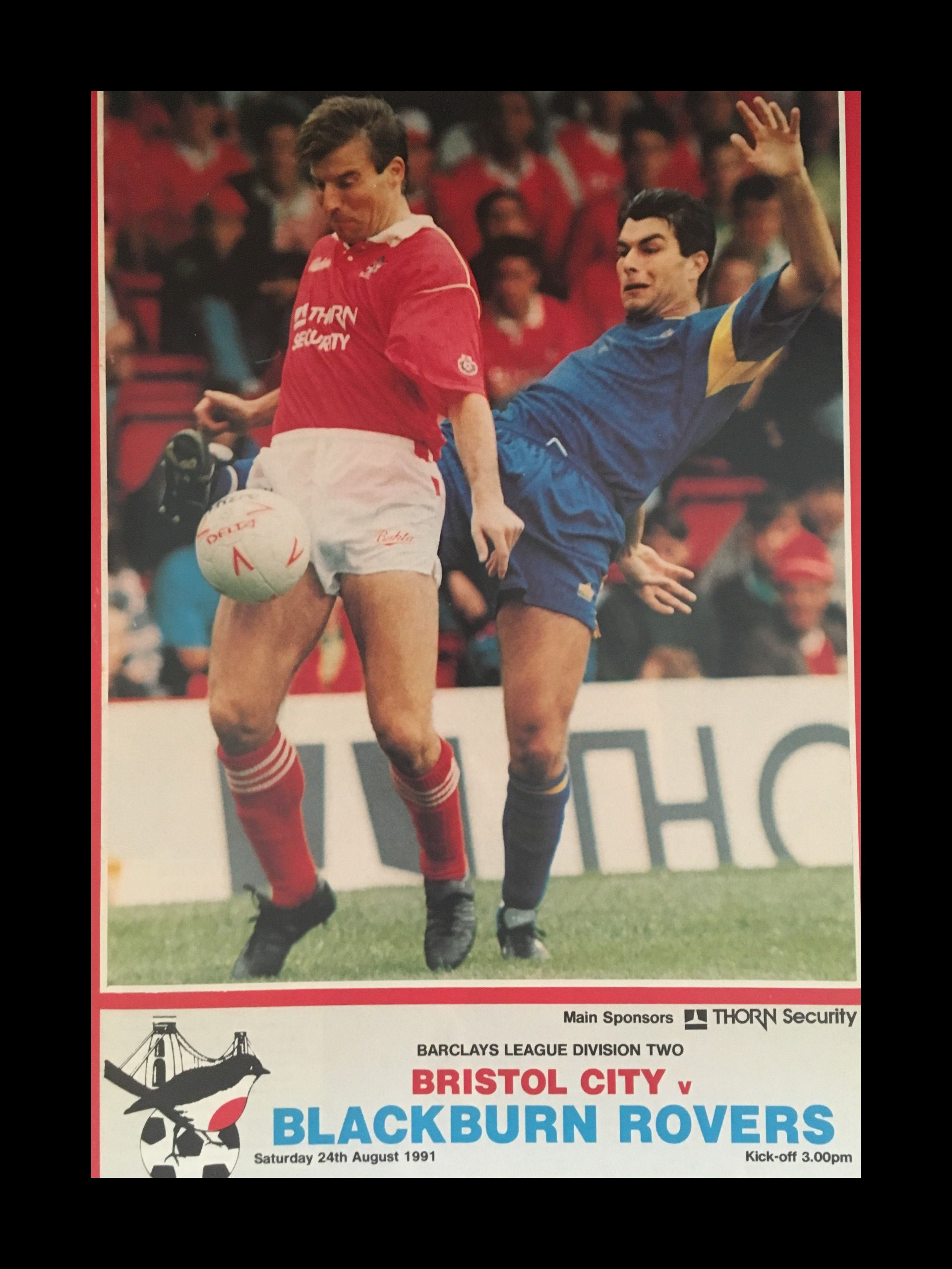 Bristol City v Blackburn Rovers 24-08-1991 Programme
