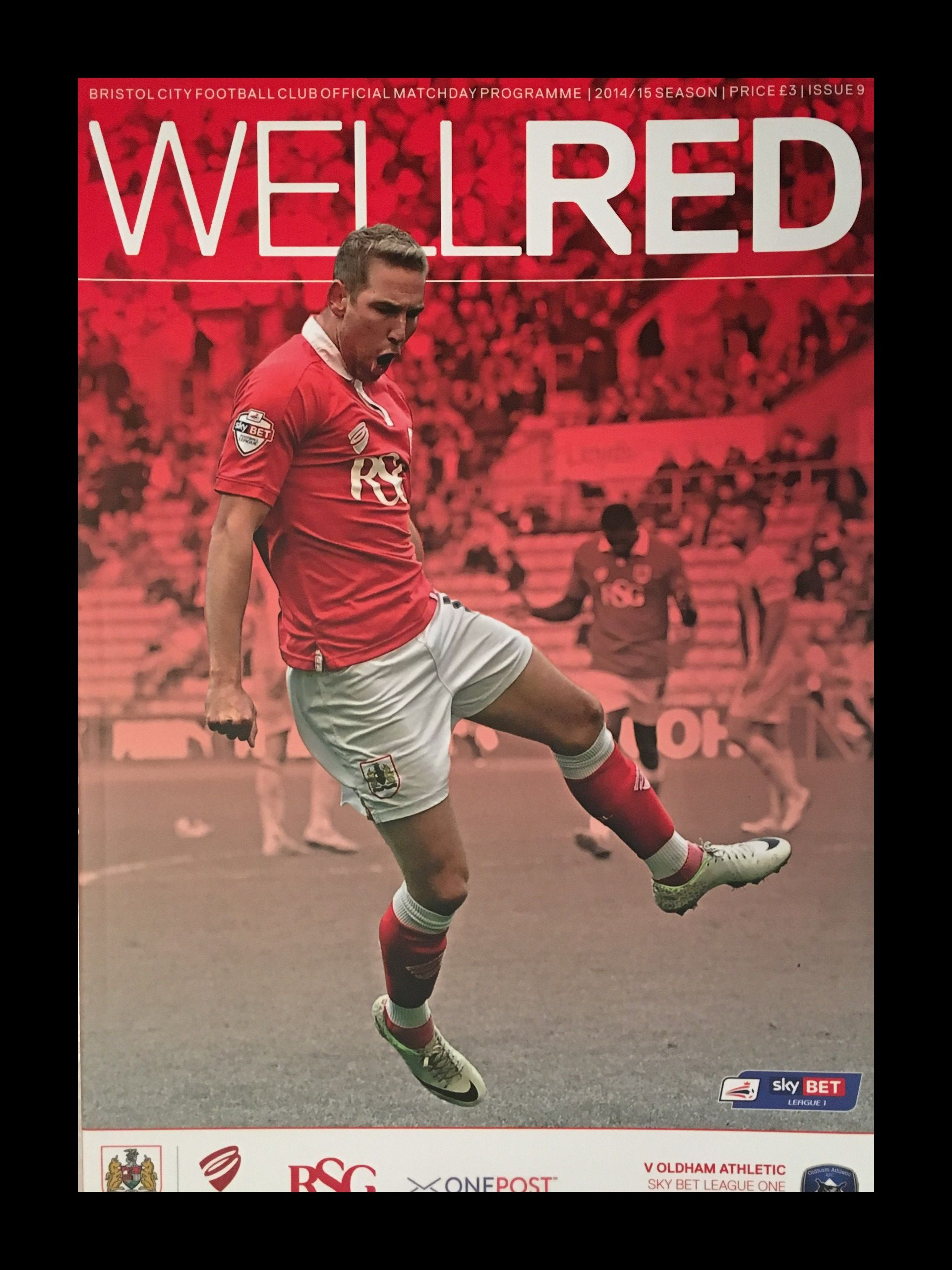 Bristol City v Oldham Athletic 01-11-2014 Programme