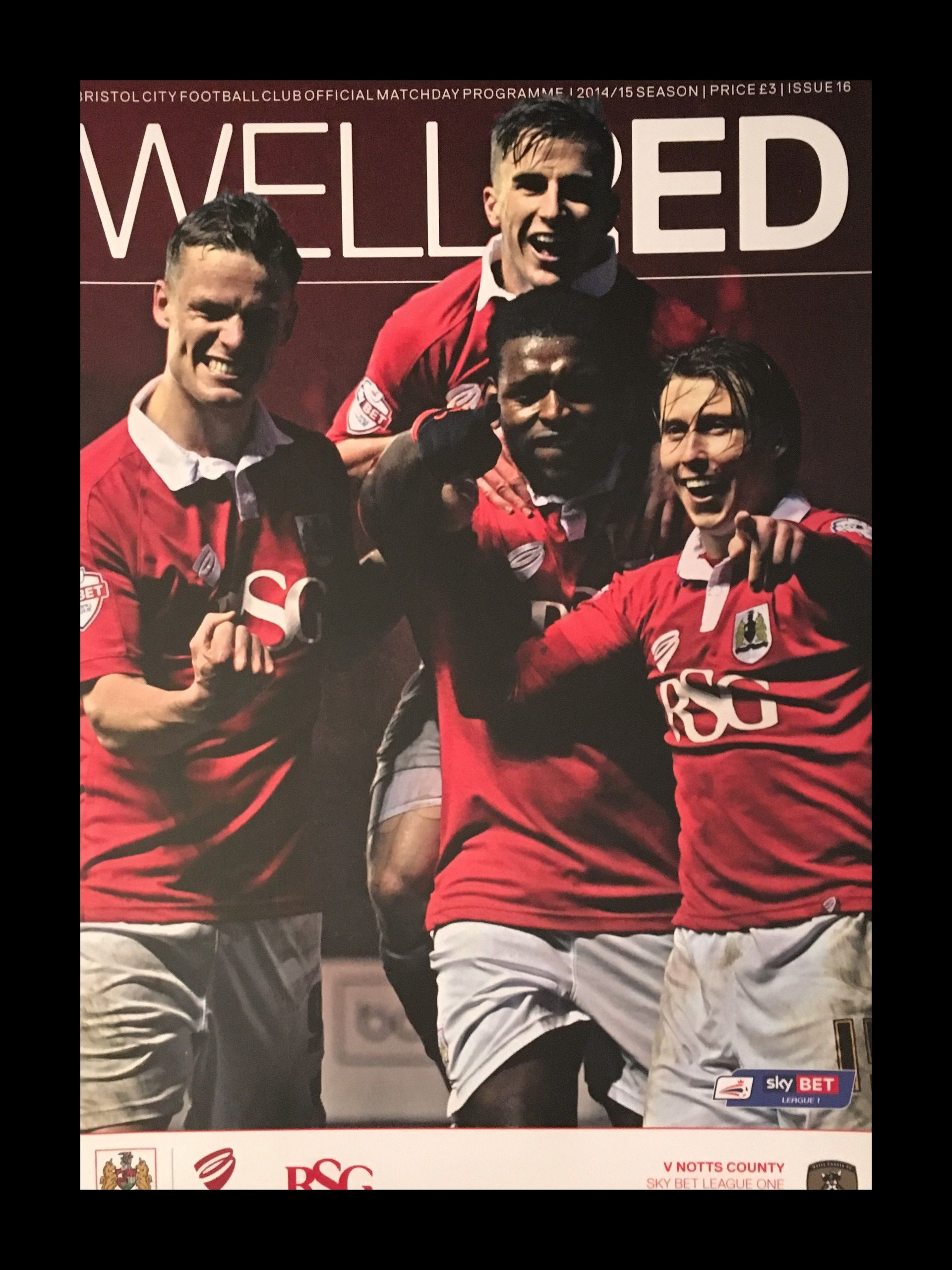 Bristol City v Notts County 10-01-2015 Programme