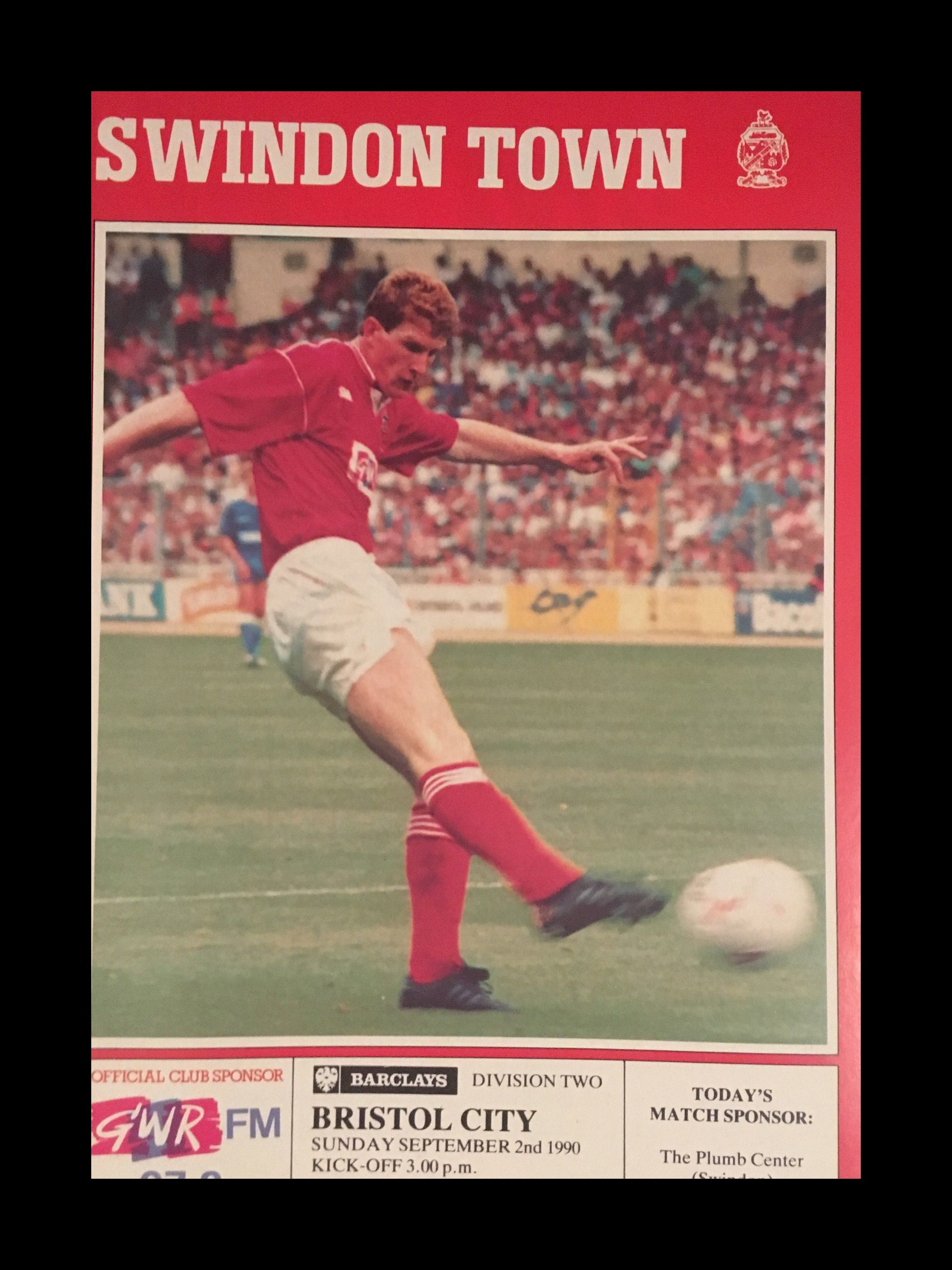 Swindon Town v Bristol City 02-09-1990 Programme