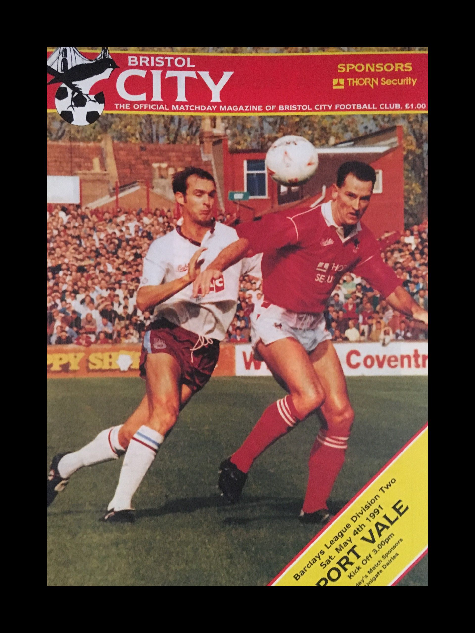 Bristol City v Port Vale 04-05-1991 Programme