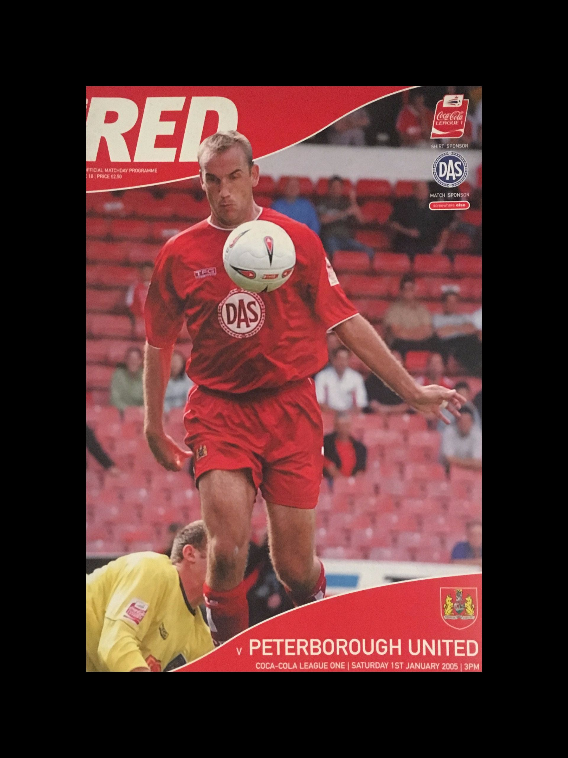 Bristol City v Peterborough United 01-01-2005 Programme