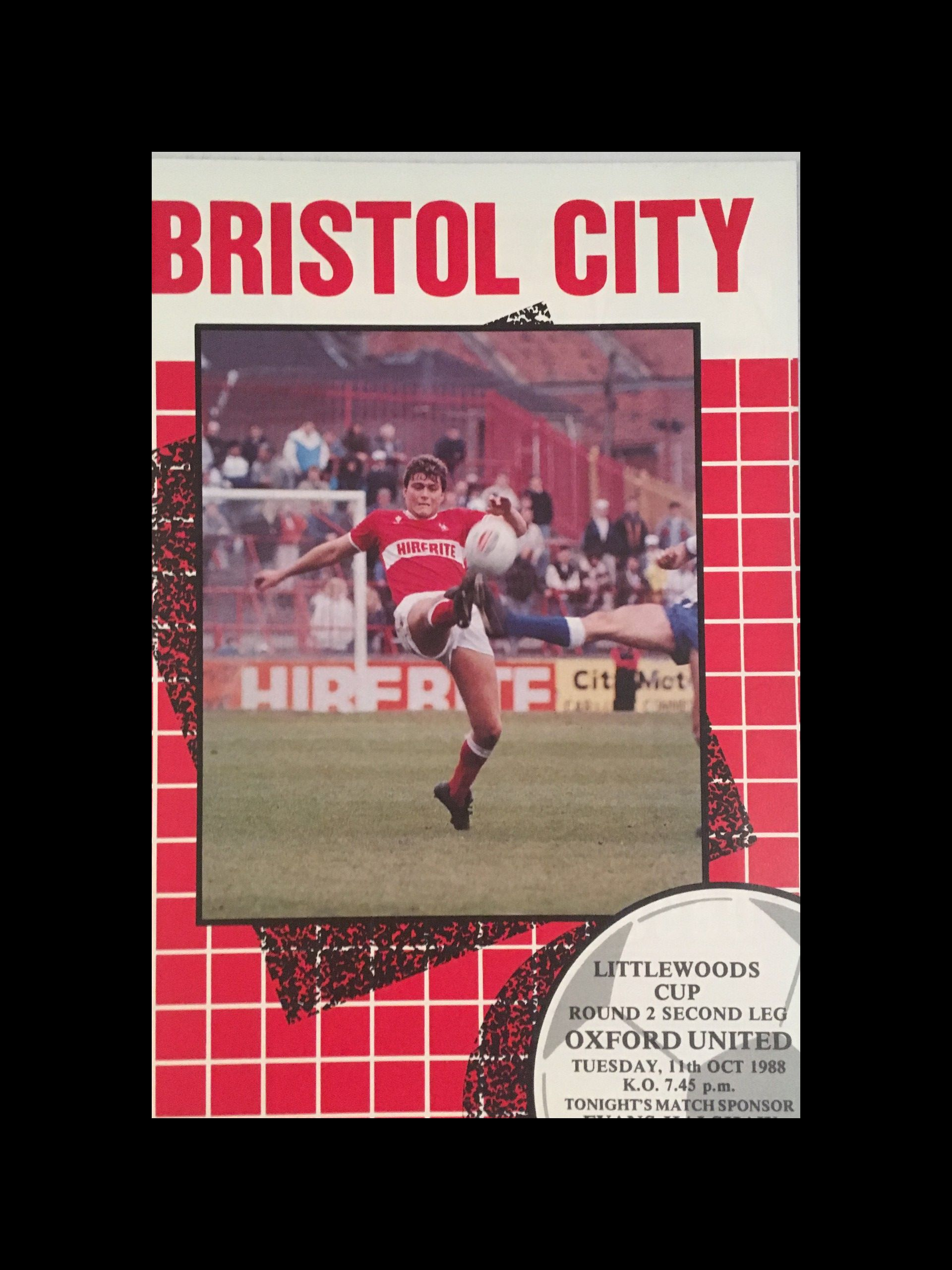 Bristol City v Oxford United 11-10-1988 Programme
