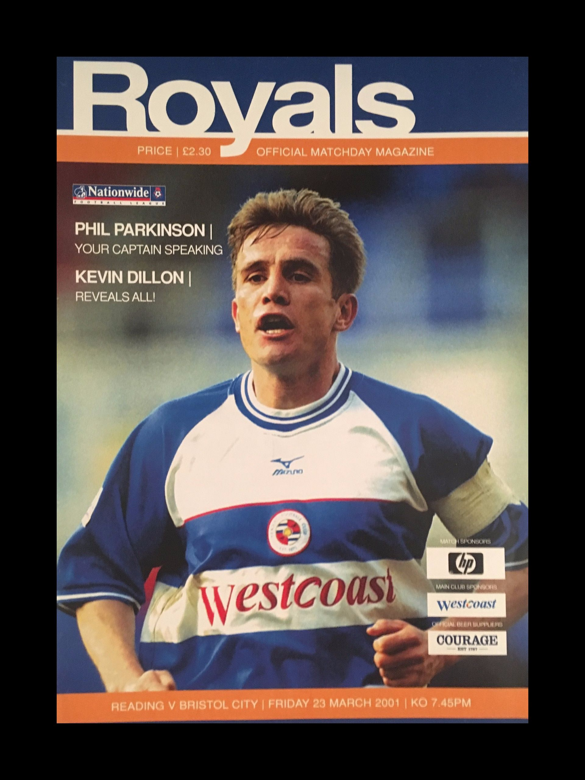 Reading v Bristol City 23-03-2001 Programme