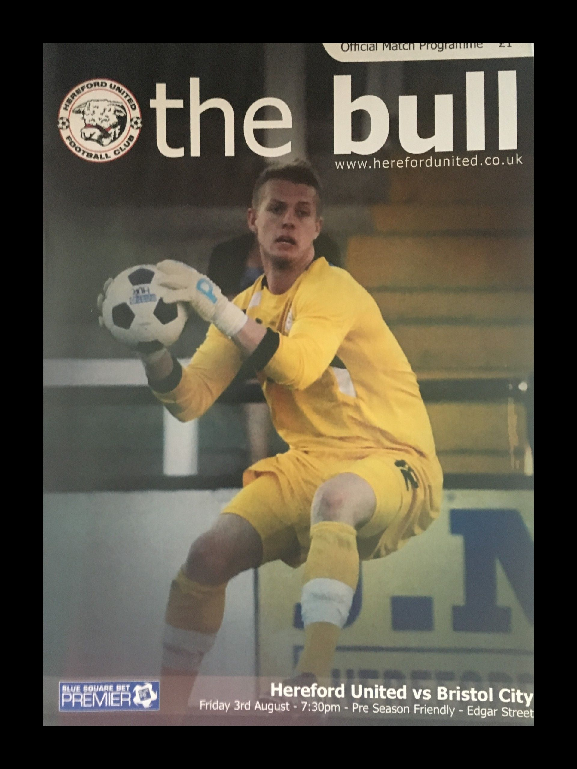 Hereford United v Bristol City 03-08-2012 Programme