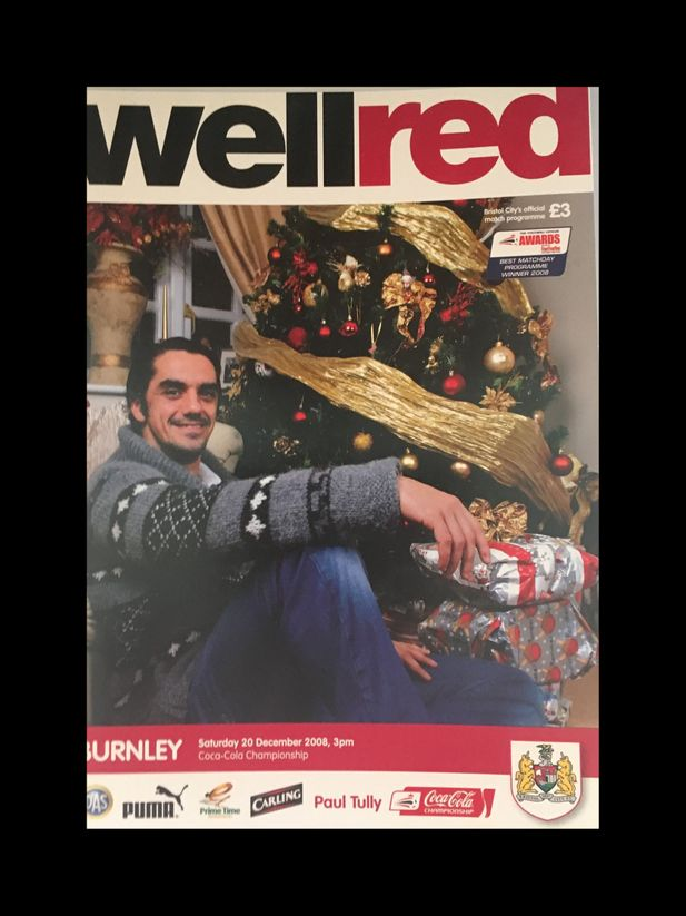 Bristol City v Burnley 20-12-2008 Programme