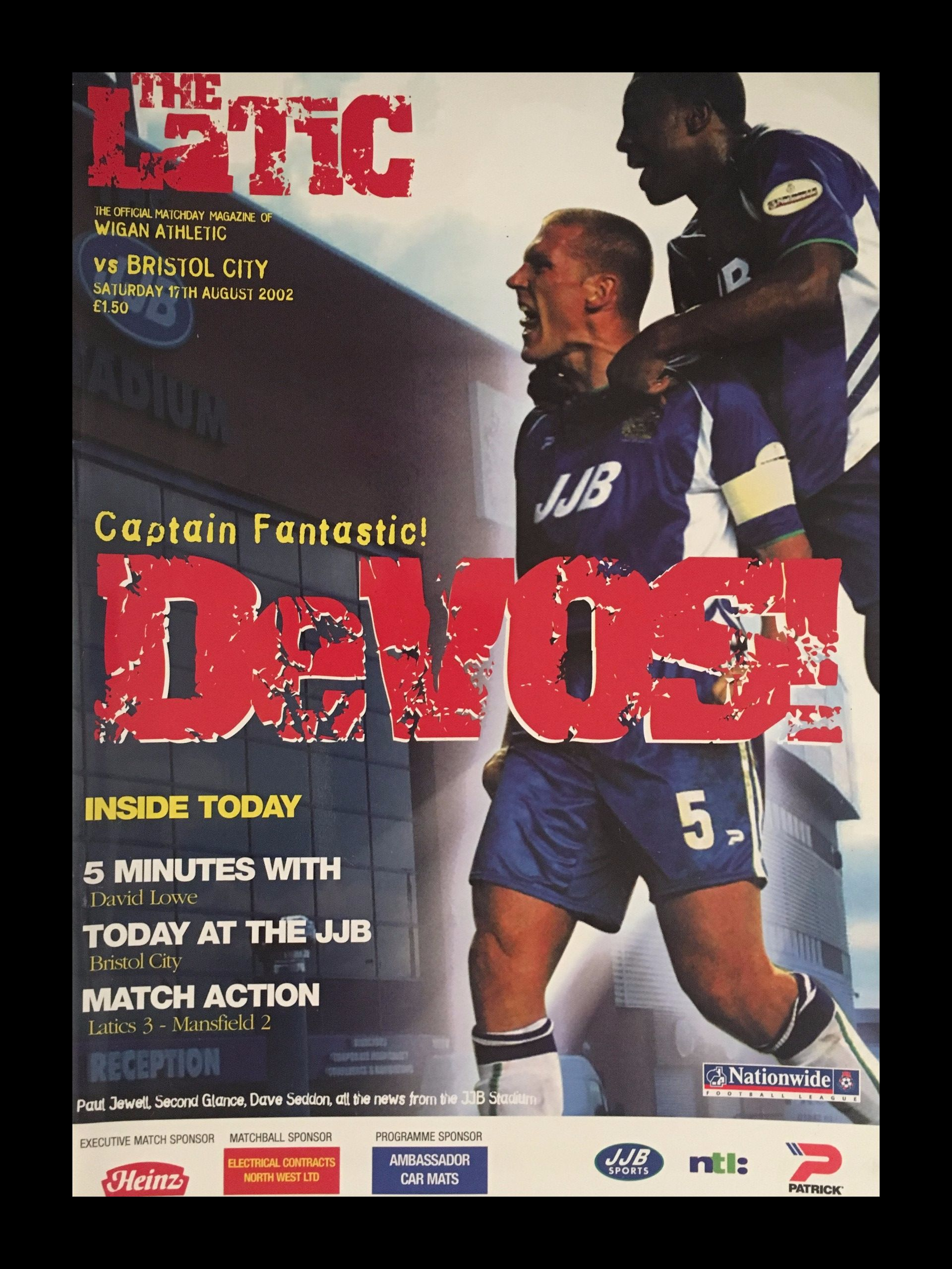 Wigan Athletic v Bristol City 17-08-2002 Programme
