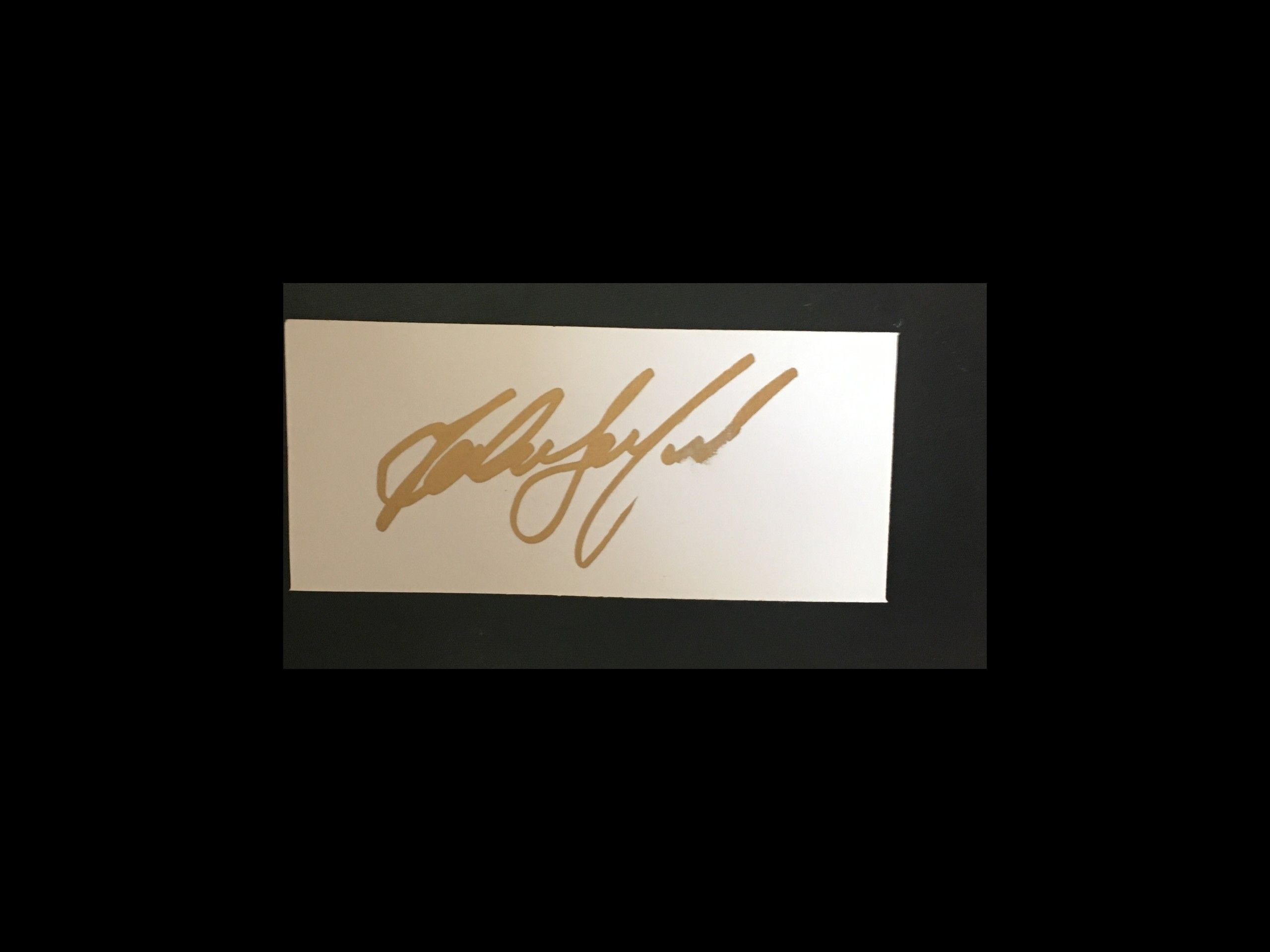 John Beresford / Newcastle Utd / Signature Card 25-02-17