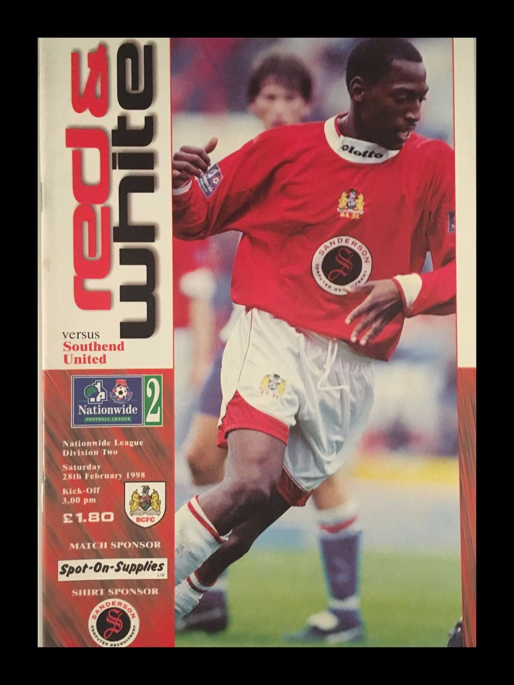 Bristol City v Southend United 28-02-1998 Programme