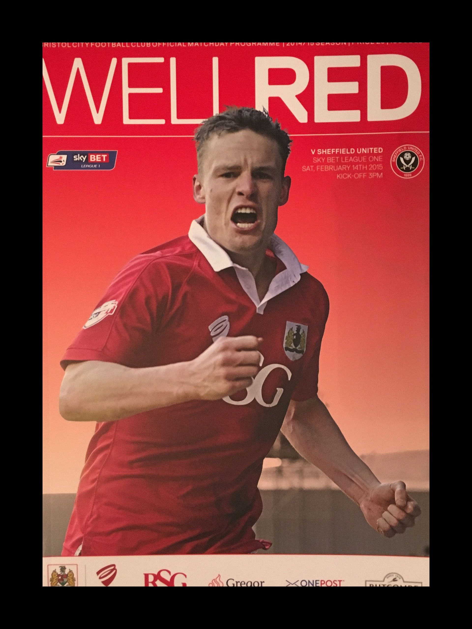 Bristol City v Sheffield United 14-02-2015 Programme