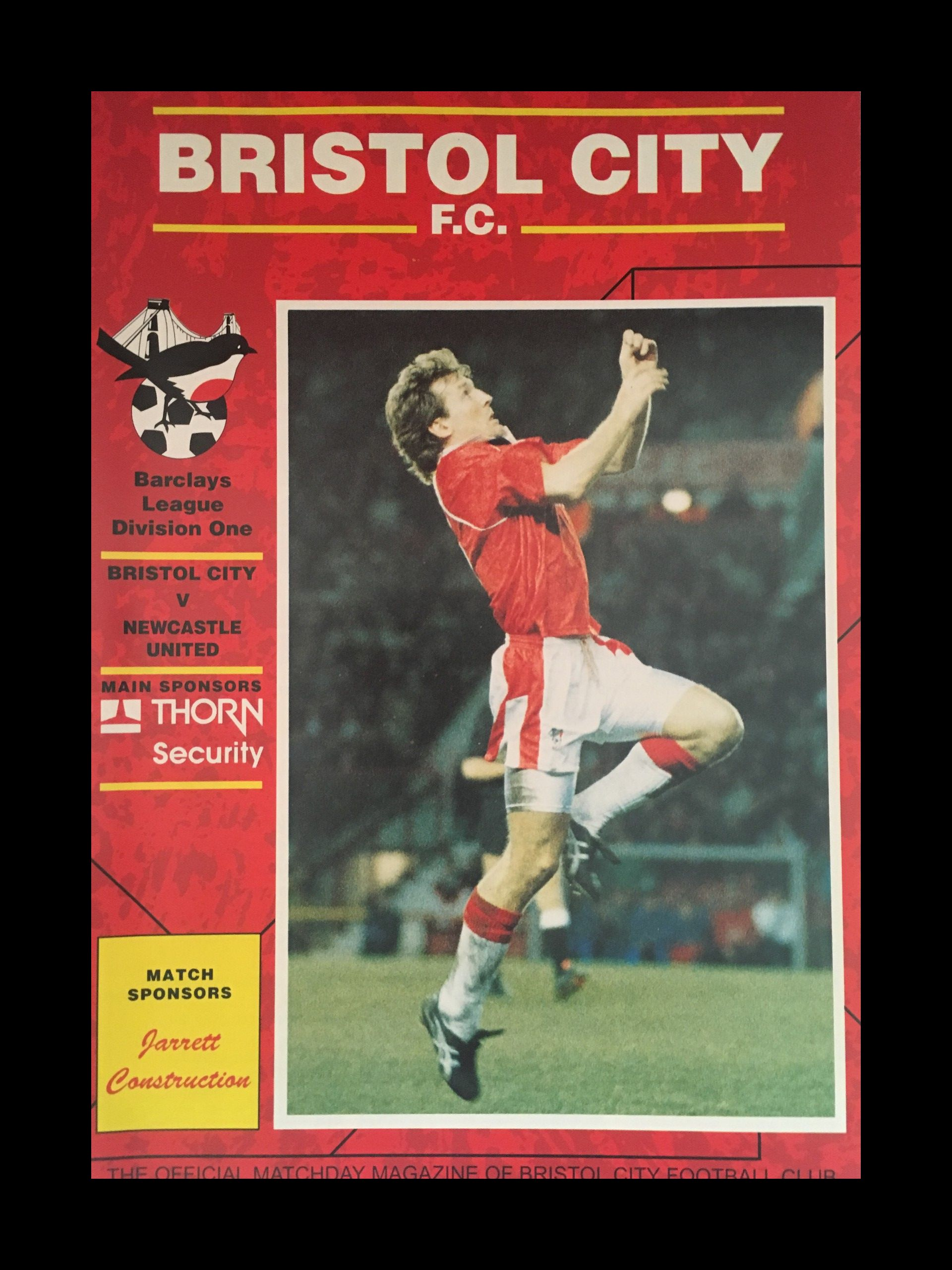 Bristol City v Newcastle United 09-01-1993 Programme