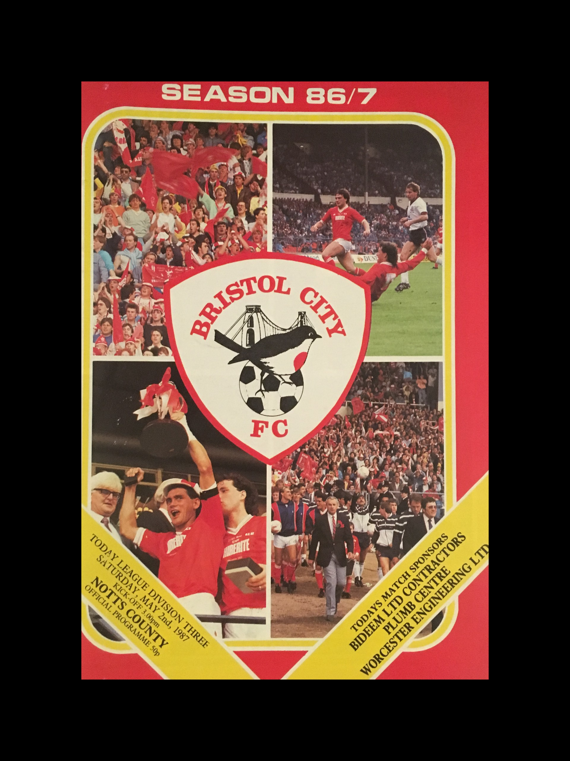 Bristol City v Notts County 02-05-87 Programme