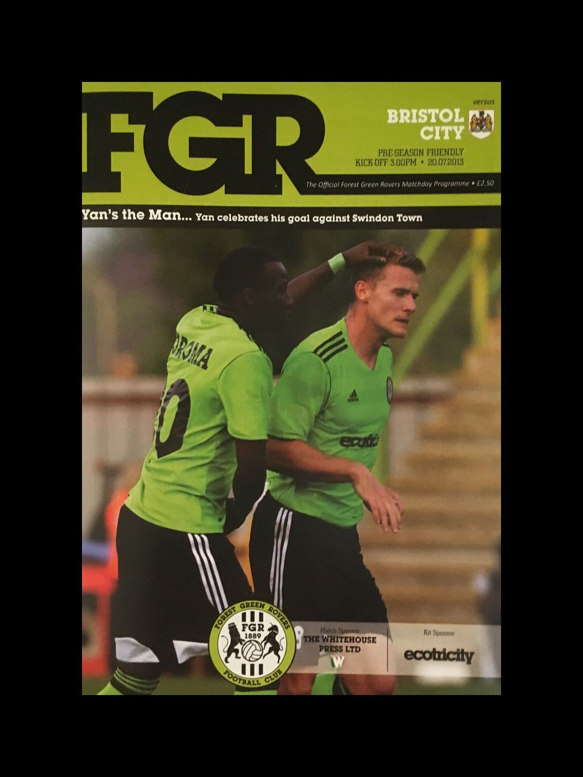 Forest Green Rovers v Bristol City 20-07-2013 Programme