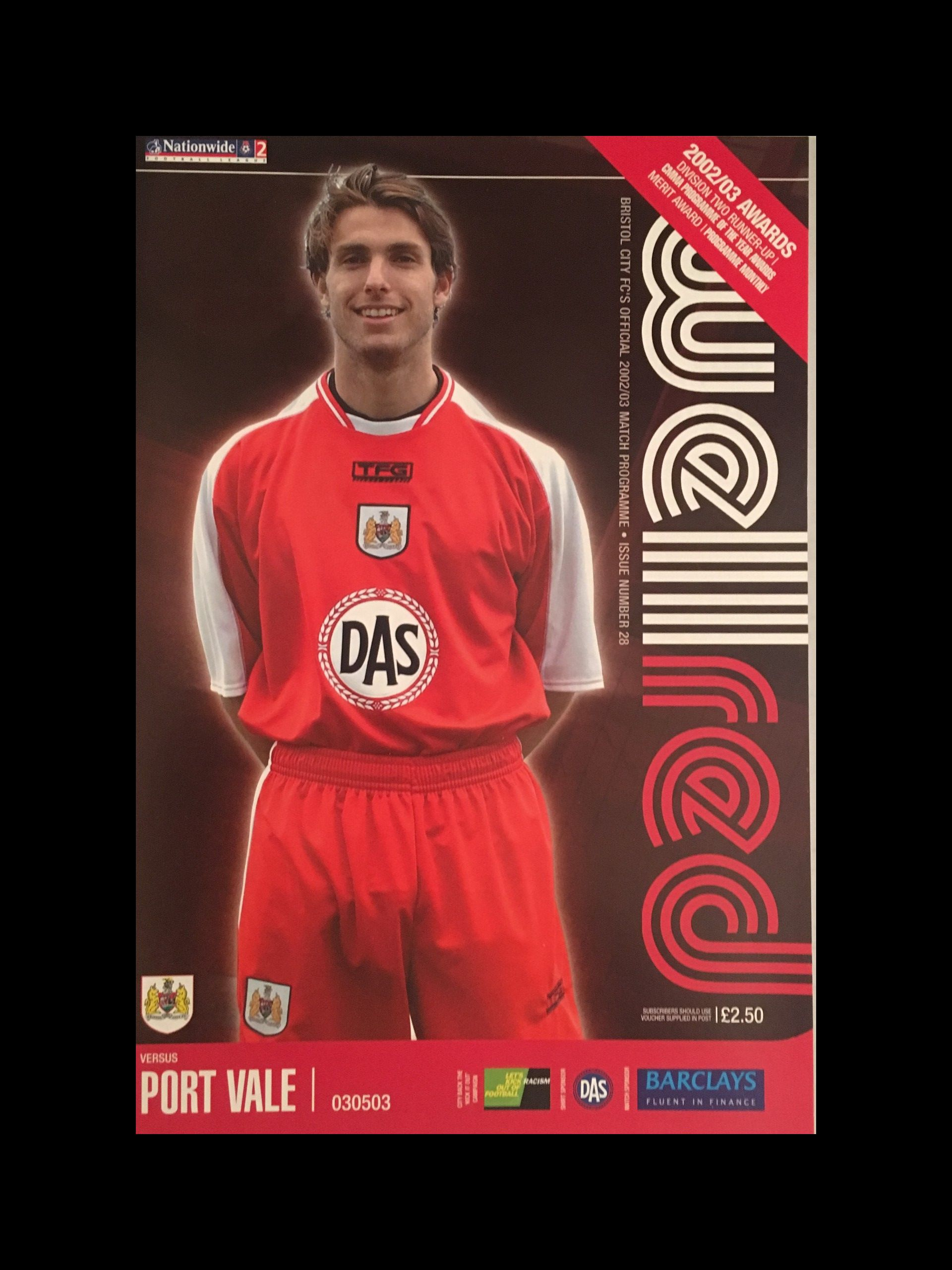 Bristol City v Port Vale 03-05-2003 Programme
