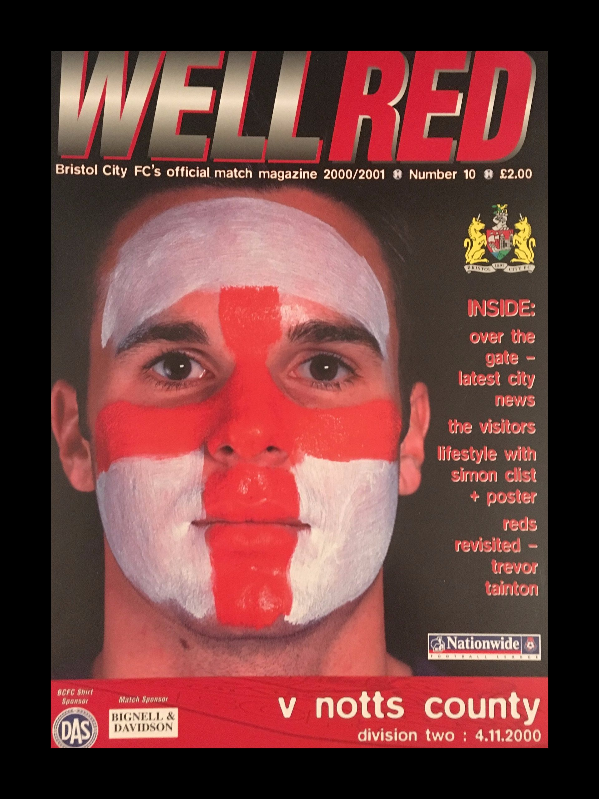 Bristol City v Notts County 04-11-2000 Programme