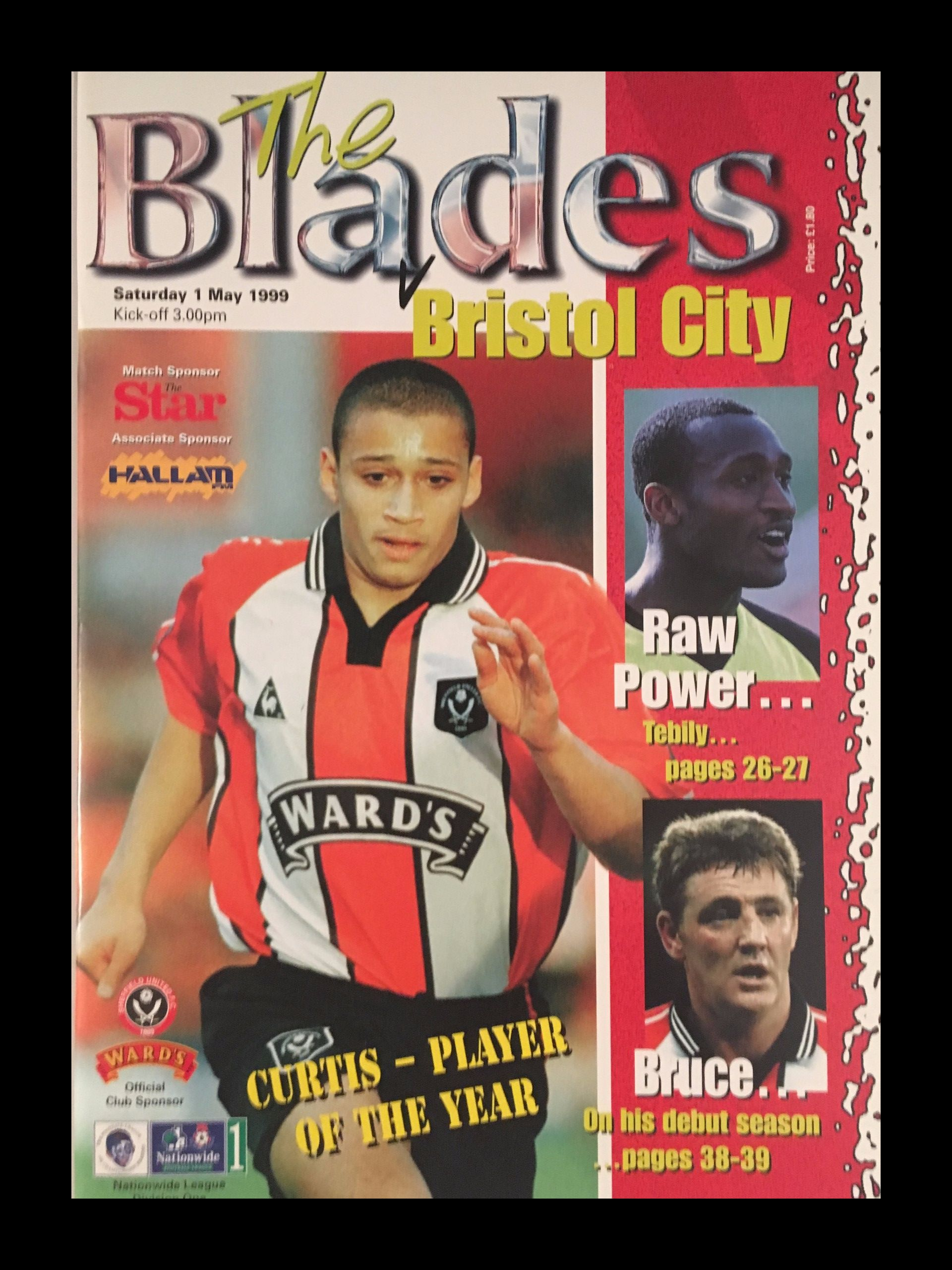 Sheffield United v Bristol City 01-05-1999 Programme