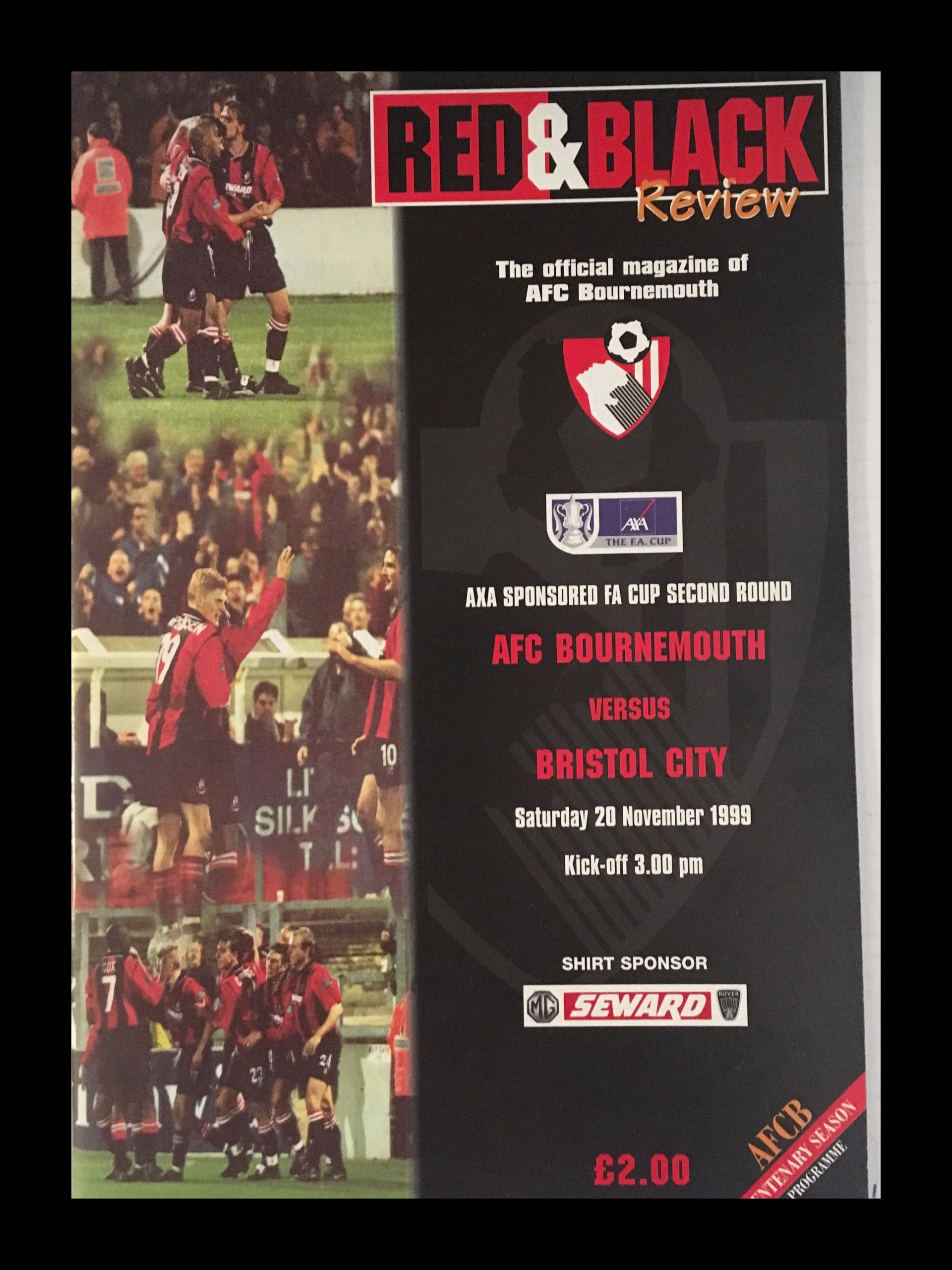 AFC Bournemouth v Bristol City 20-11-1999 Programme