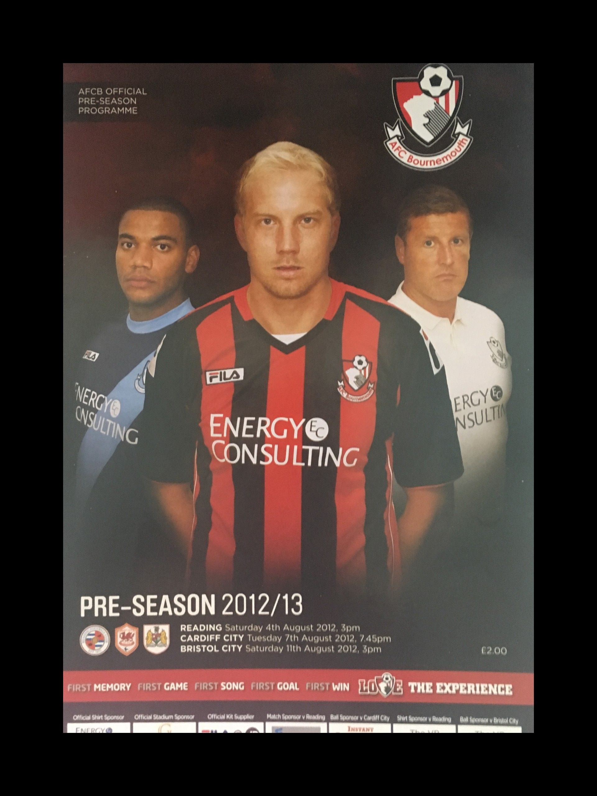 AFC Bournemouth v Bristol City 11-08-2012 Programme