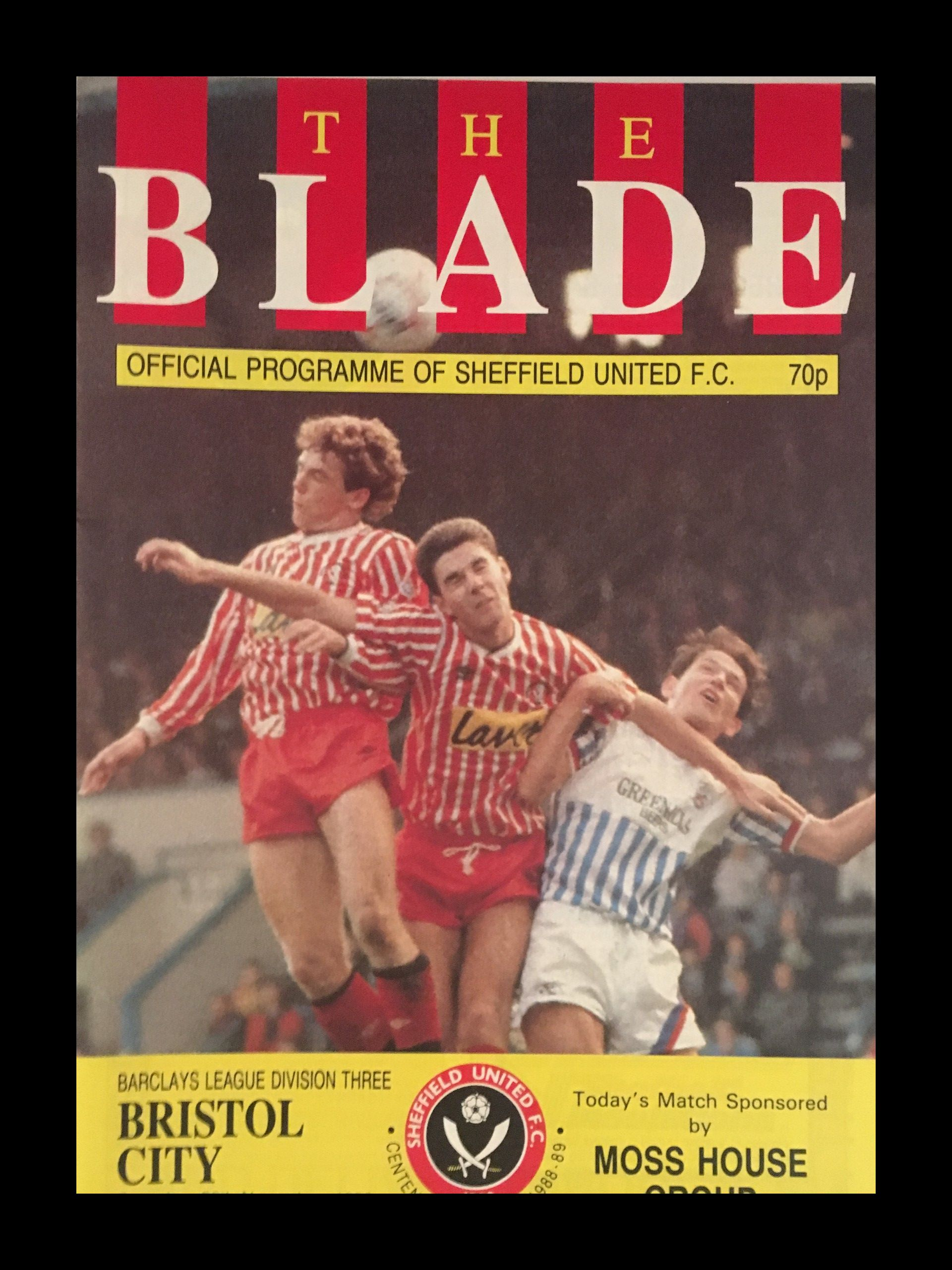 Sheffield United v Bristol City 26-11-1988 Programme