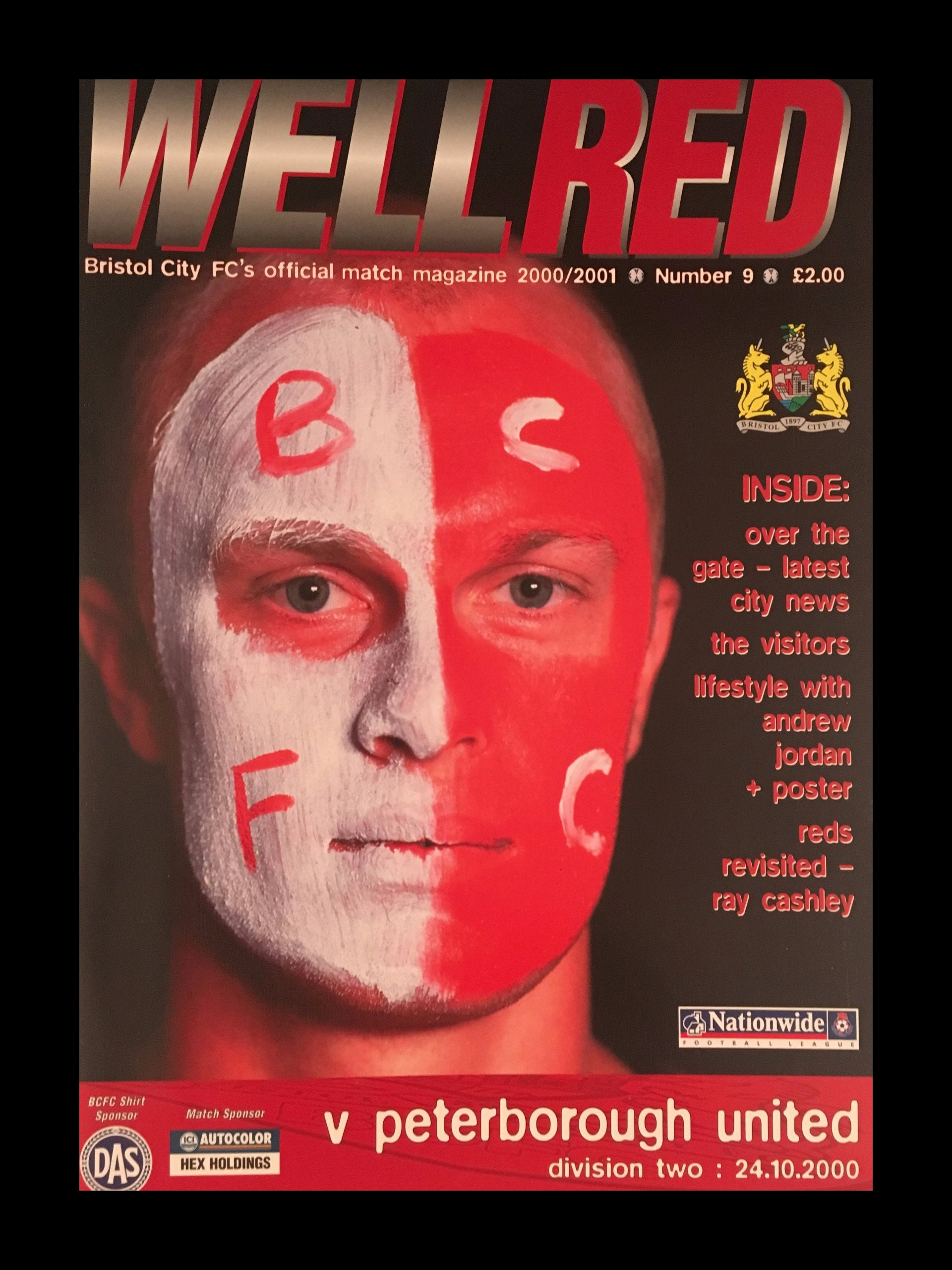 Bristol City v Peterborough United 24-10-2000 Programme