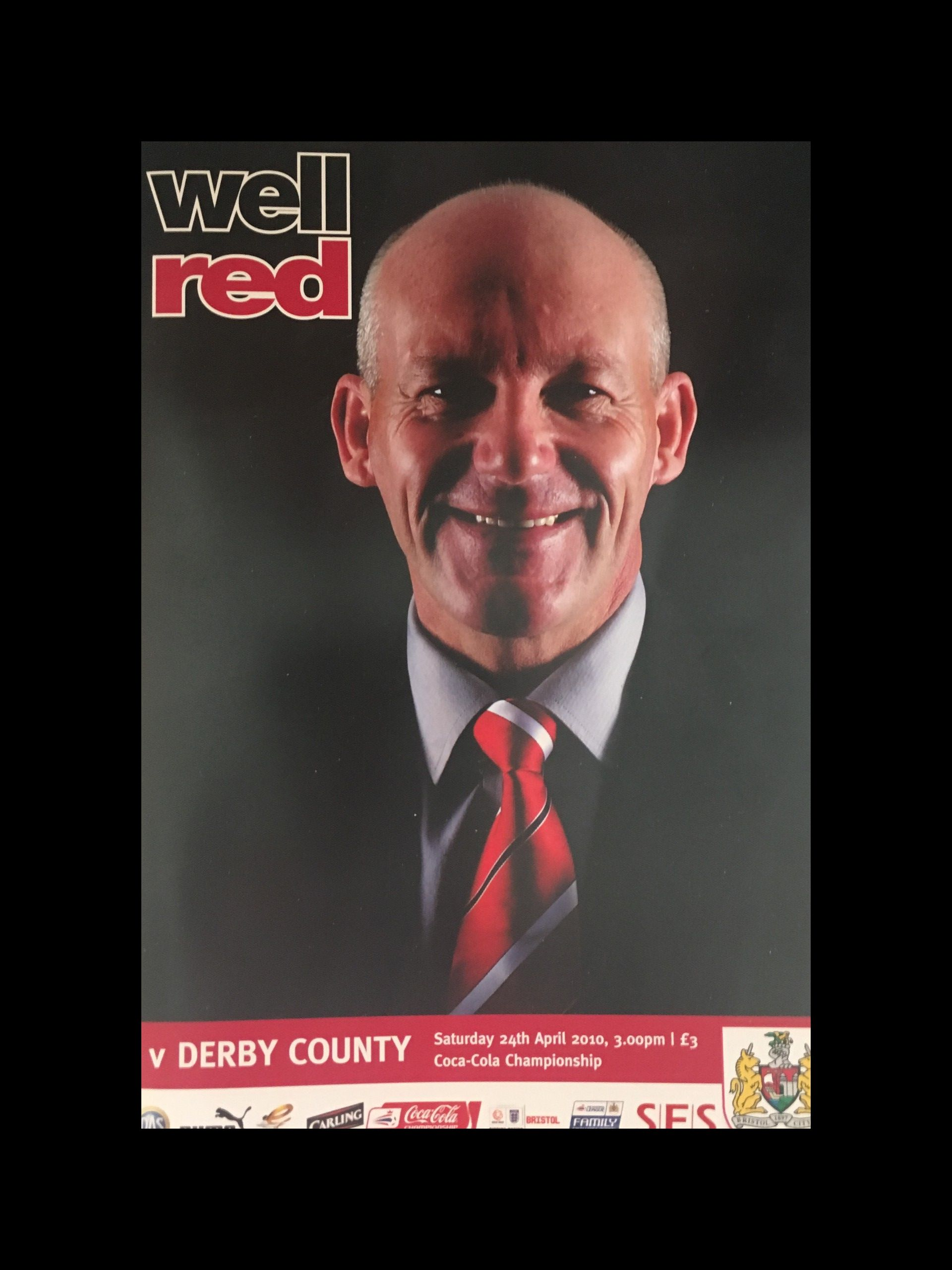 Bristol City v Derby County 24-04-2010 Programme
