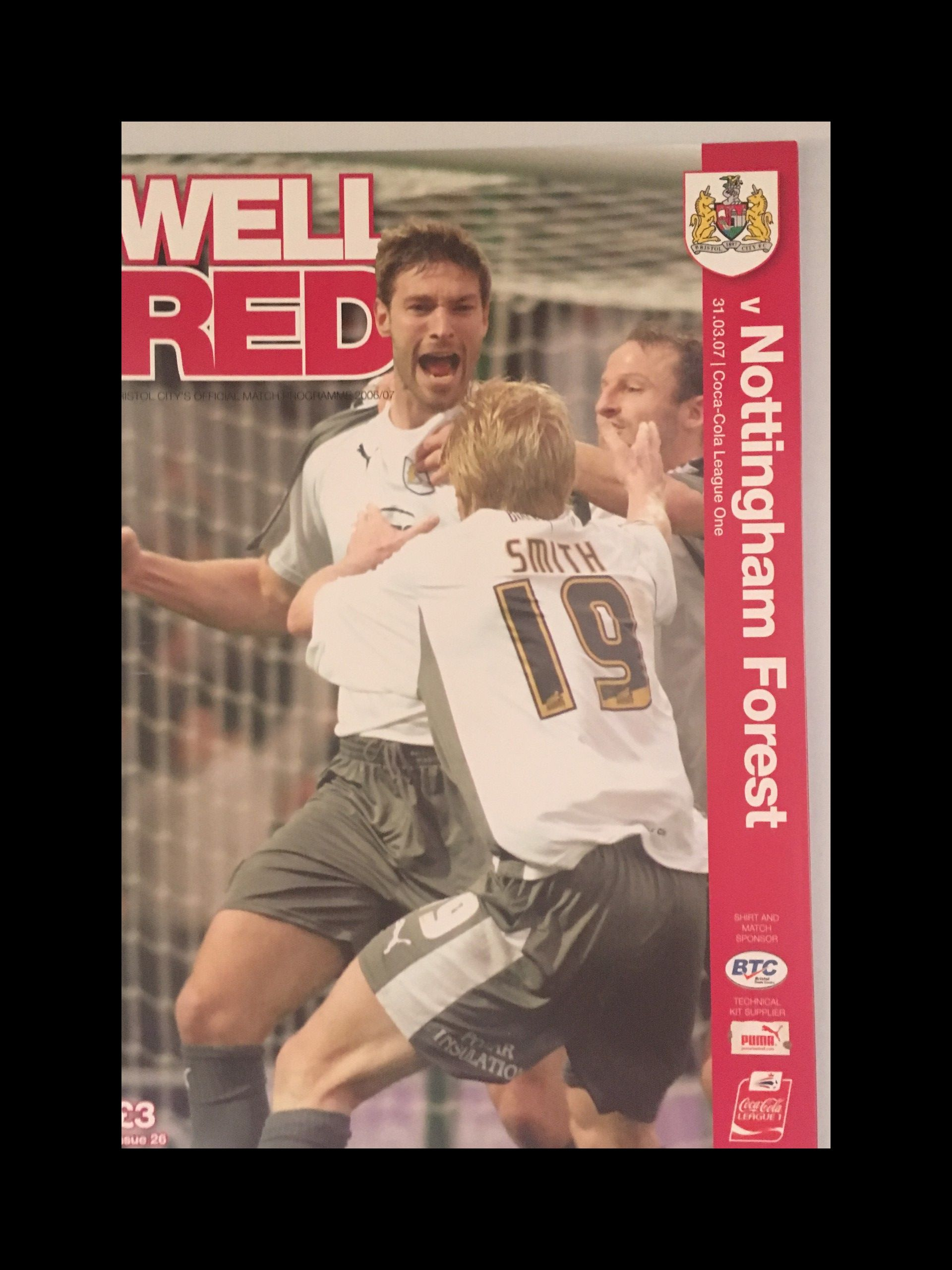 Bristol City v Nottingham Forest 31-03-2007 Programme