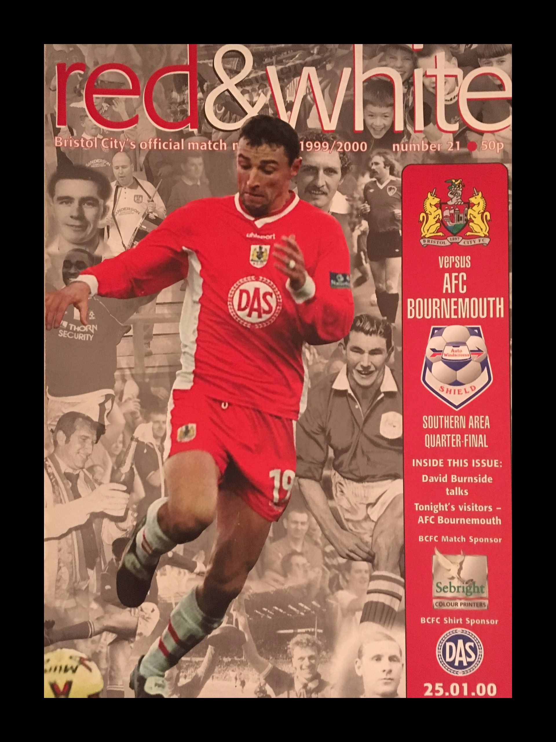 Bristol City v AFC Bournemouth 25-01-2000 Programme