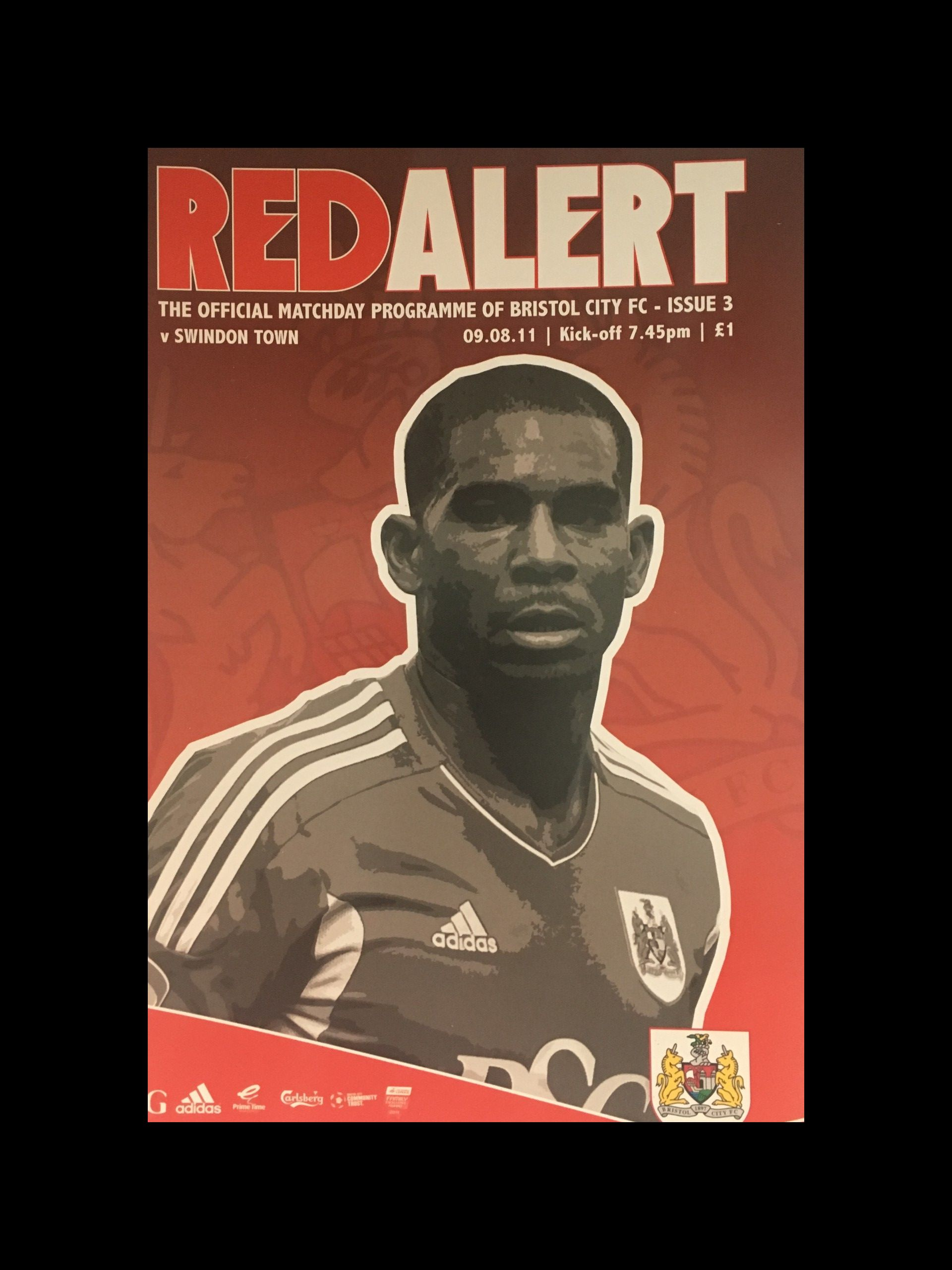 Bristol City v Swindon Town 09-08-2011 Programme