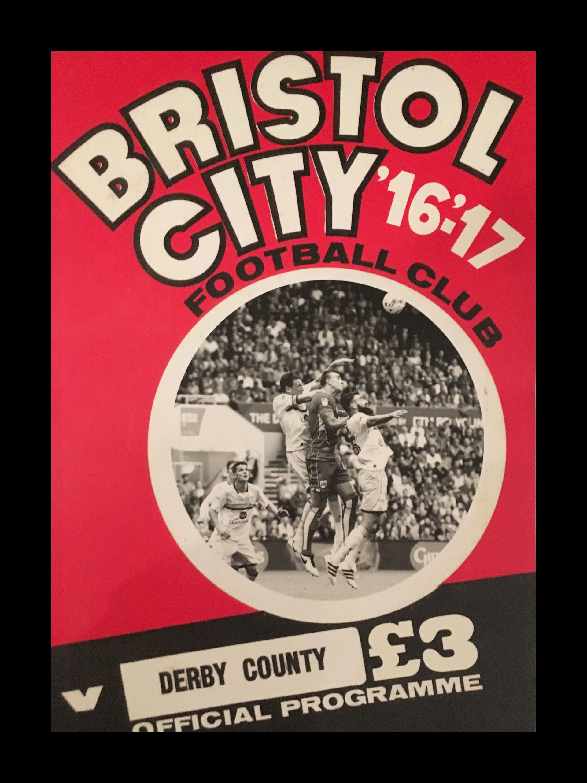 Bristol City v Derby County 17-09-2017 Programme