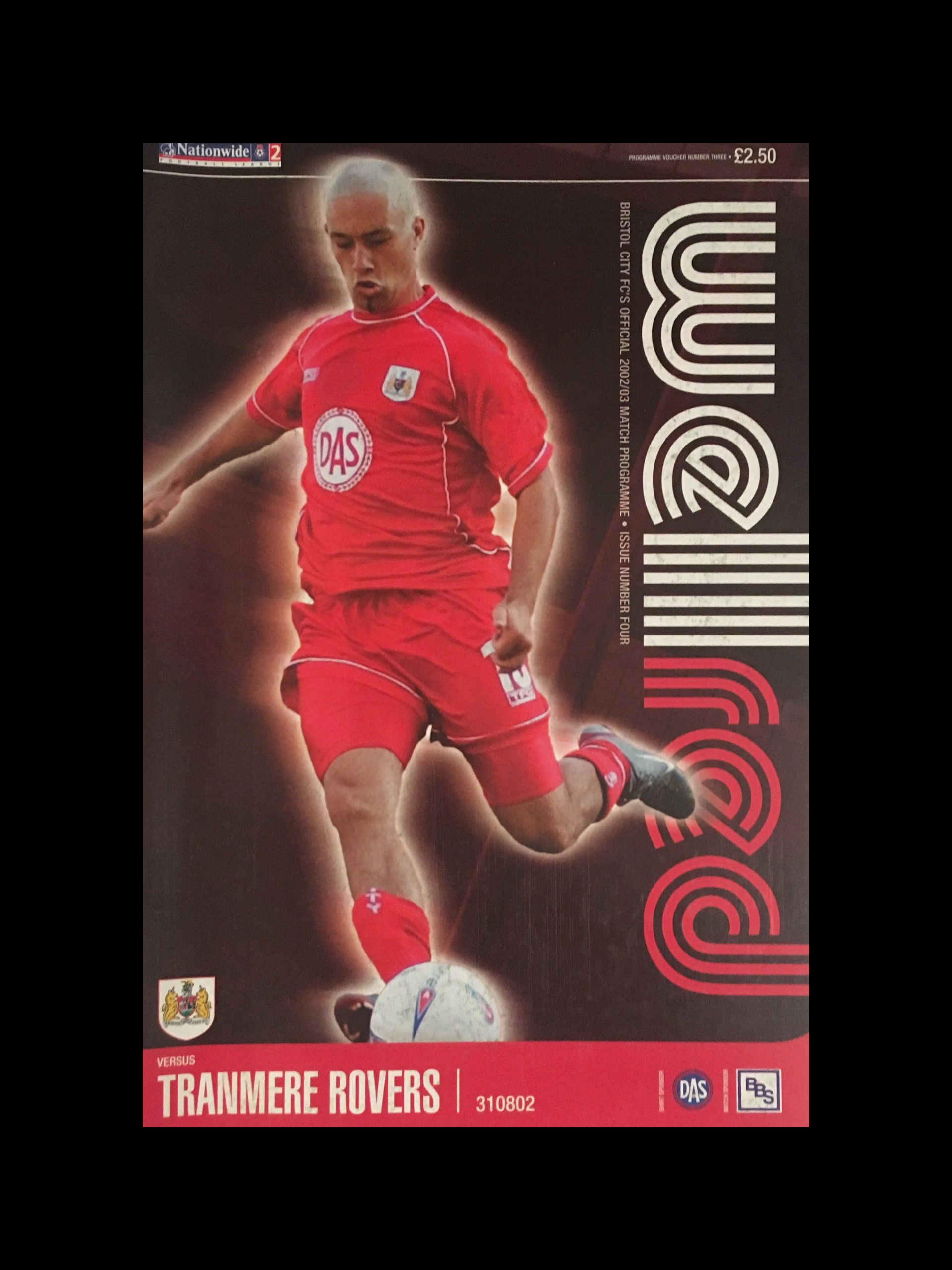 Bristol City v Tranmere Rovers 31-08-2002 Programme